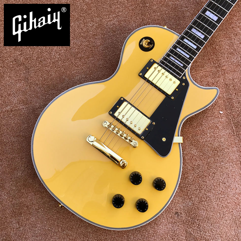 New style high-quality custom LP electric guitar, Ebony Fingerboard electric guitar, frets binding, Gold hardware, free shipping free shipping 2015 high quality electric guitar billy guitar pearly gates signature lp guitar 151101