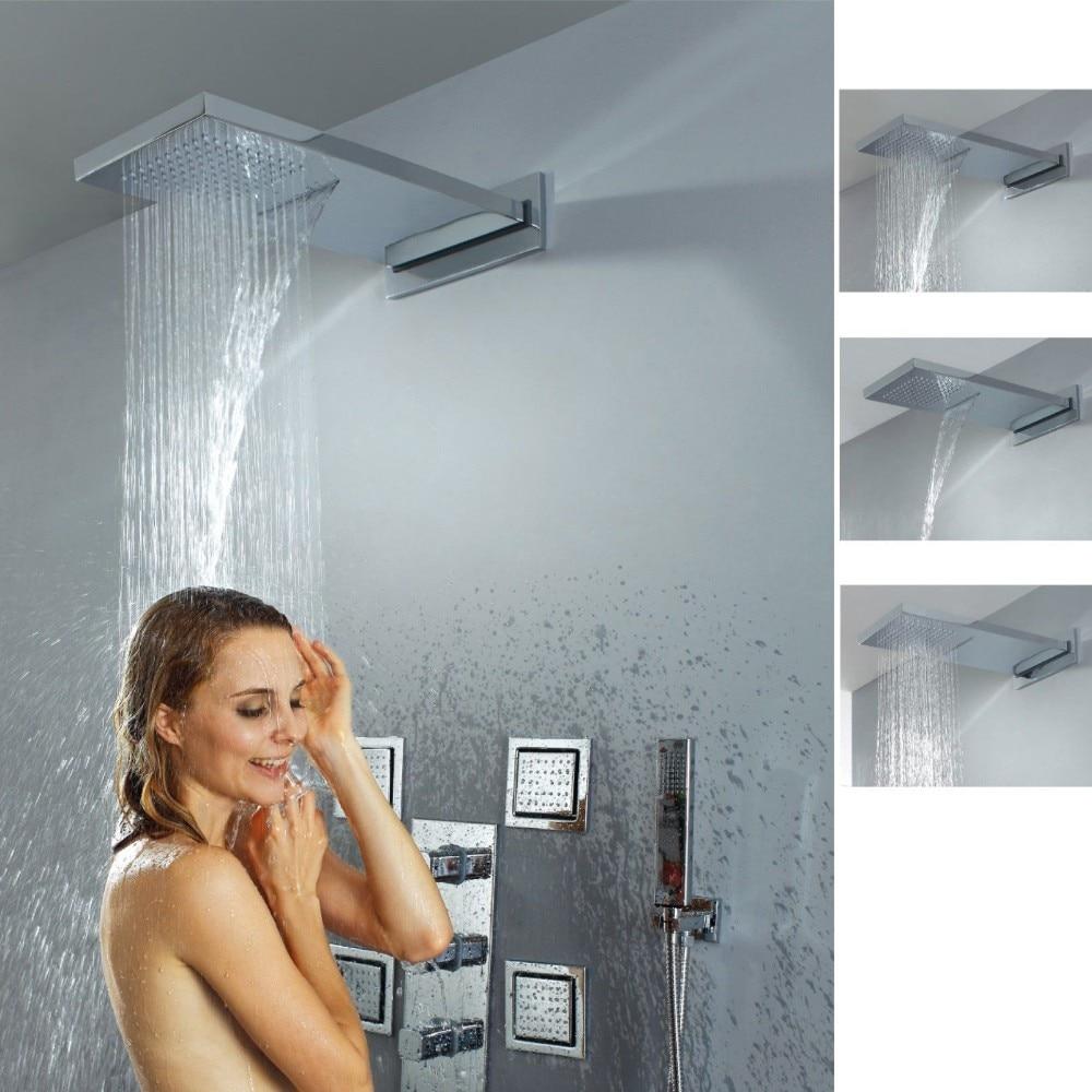 Air injection type Shower Head Set Bathroom Shower Jet Body Sprayer ...
