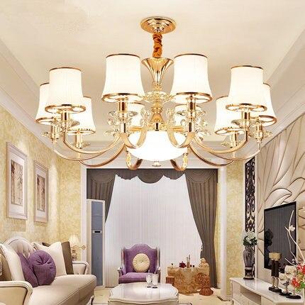 Modern Crystal Led Chandeliers Lighting Gold Metal Living Room Led Pendant Chandelier Lights Dining Room Hanging Light Fixtures|Pendant Lights| |  - title=