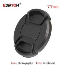 10pcs/lot 77mm heart pinch Snap-on cap cowl for canon nikon 77mm digicam Lens cap