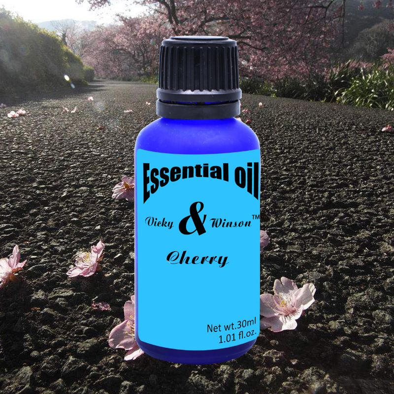 Vicky&winson Cherry Aromatherapy Essential Oils 30ml Prevent Aging Bright And Compact Skin Make Skin Soft Elastic Deodorization
