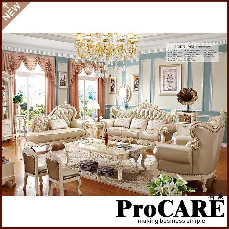 Aliexpress.com : Buy European Leather Sofa Set Living Room