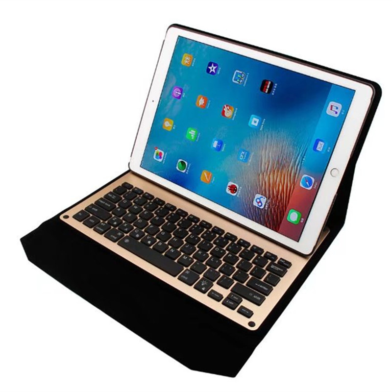 Ultra-thin Aluminum Bluetooth Keyboard Case for iPad Pro PU Leather Portfolio Case for Apple ipad pro 12.9 inch tablet keyboardUltra-thin Aluminum Bluetooth Keyboard Case for iPad Pro PU Leather Portfolio Case for Apple ipad pro 12.9 inch tablet keyboard