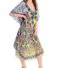 Large Chiffon Beach Cover up Plus size Bikini Cover up Saida de Praia Vestidos Mujer 2019 Maxi Dress Pareos de Playa Mujer