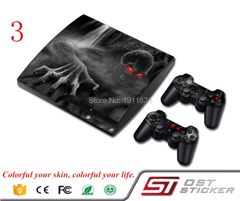 Hot Selling New Full Body Decal Skin Sticker Cover For Playstation 3 Slim For PS3 Console 2 Controller