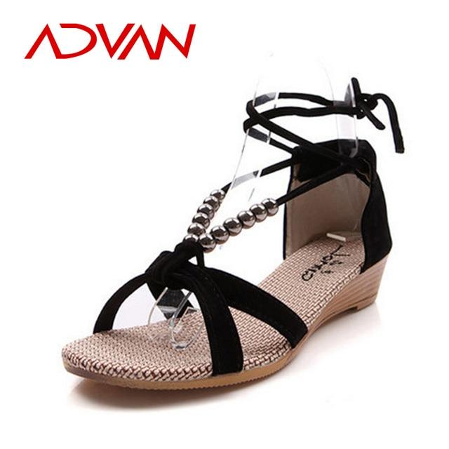 eea10c9a4 Hot Sale Women Sandals Fashion Comfortable Shoe Sandal Flock Upper Rubber  Sole Cover Heel Beading Wedge Summer Shoes Sandals