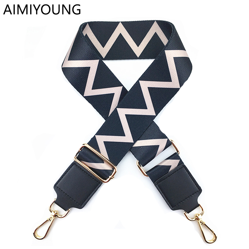 AIMIYOUNG Bag Strap Handbag Belt Wide Shoulder Bag Strap Replacement Strap Accessory Bag Part Adjustable Belt For Bag 130cm(China)