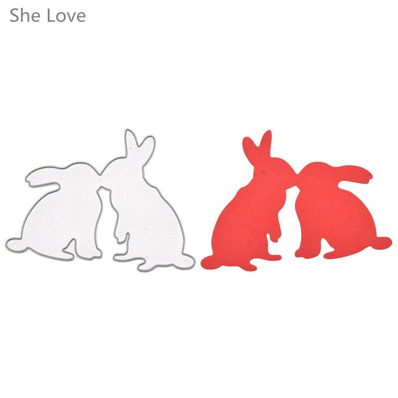 ᓂElla Love metal conejo Recortes de papel plantillas scrapbooking ...