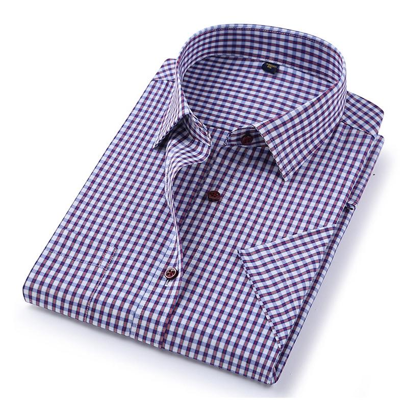 DAVYDAISY 2020 New Arrival Summer Men's Shirt Short Sleeved Plaid Striped Fashion Work Casual Shirt Man Formal Shirt DS227