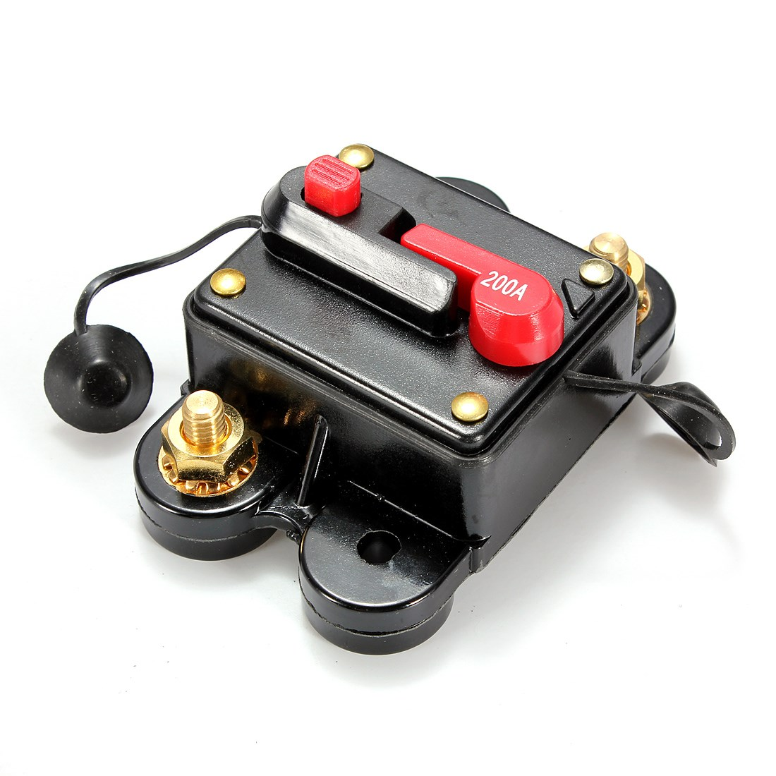 200A Car Marine Boat Bike Stereo Audio Inline Circuit Breaker Fuse DC 12V-24V Wholesale 12v dc 20a 100a car audio solar energy inline circuit breaker reset fuse holder m13 dropship