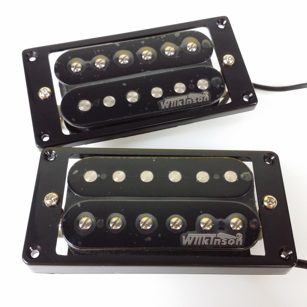 NEW Wilkinson Electric Guitar Humbucker Pickups - WHHB (neck & bridge) Alnico 5 Magnet Copper-Nickel Base kmise electric guitar pickups humbucker double coil pickup bridge neck set guitar parts accessories black with chrome gold frame