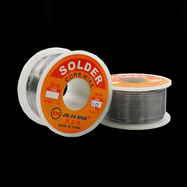 NEW 100g 0.6/0.8/1/1.2 60/40 FLUX 2.0% 45FT Tin Lead Tin Wire Melt Rosin Core Solder Soldering Wire Roll No-clean