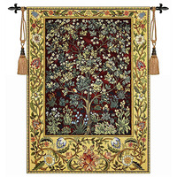 William morris the tree Red 89cmX68cm medieval wall hanging tapestry home textile decoration aubusson H108