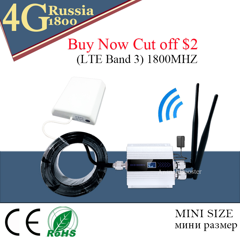 Cellular Amplifier LTE 1800MHZ 2g 4g LTE Cell Phone Signal Repeater GSM DCS 1800 Mobile Phone Signal Booster 2G 3G 4G Antenna