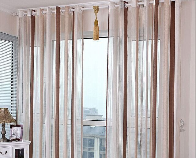 Mediterranean Style Finished Sheer Curtains Chenille Screens Window Custom Size Voile For Bedroom Livingroom