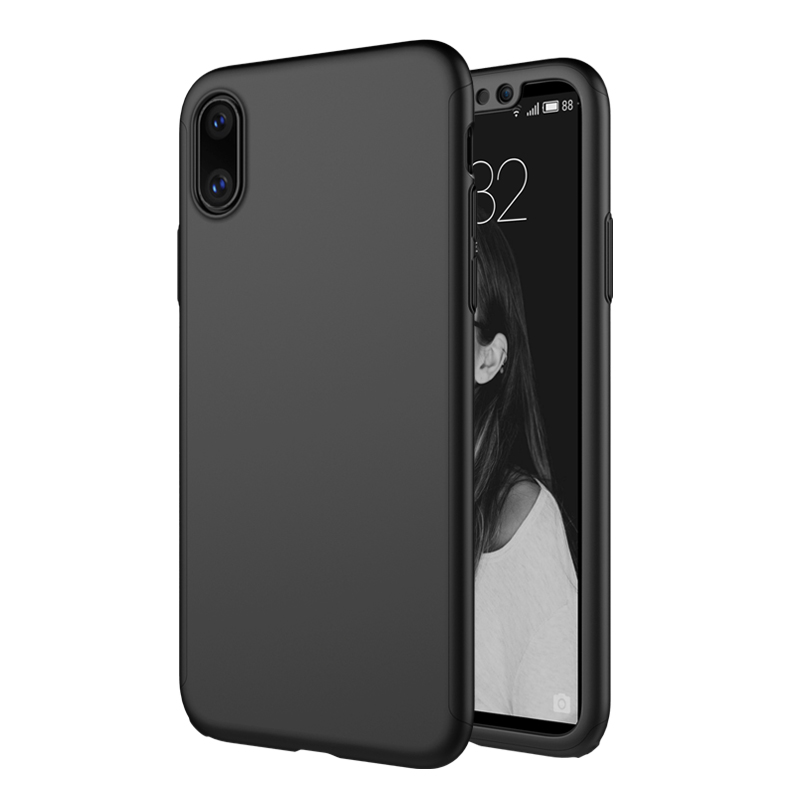best sneakers f0d36 1bfbb US $11.03 |For iPhone X Apple Case Cover MOFI 360 Degree Full Body Cover  Case For iPhone X PC Protective Hard Case + Tempered Glass 5.8''-in Fitted  ...
