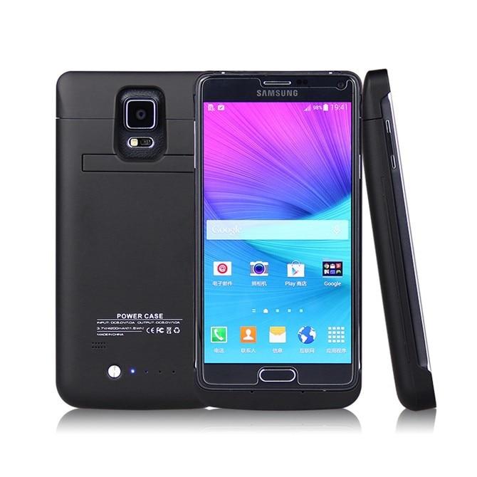 Цена за Note4 Батарея чехол для Samsung Galaxy Note 4 Батарея случае 4800 мАч Батарея Зарядное устройство Дело Капа Мощность Bank для Samsung Примечание 4 Чехол