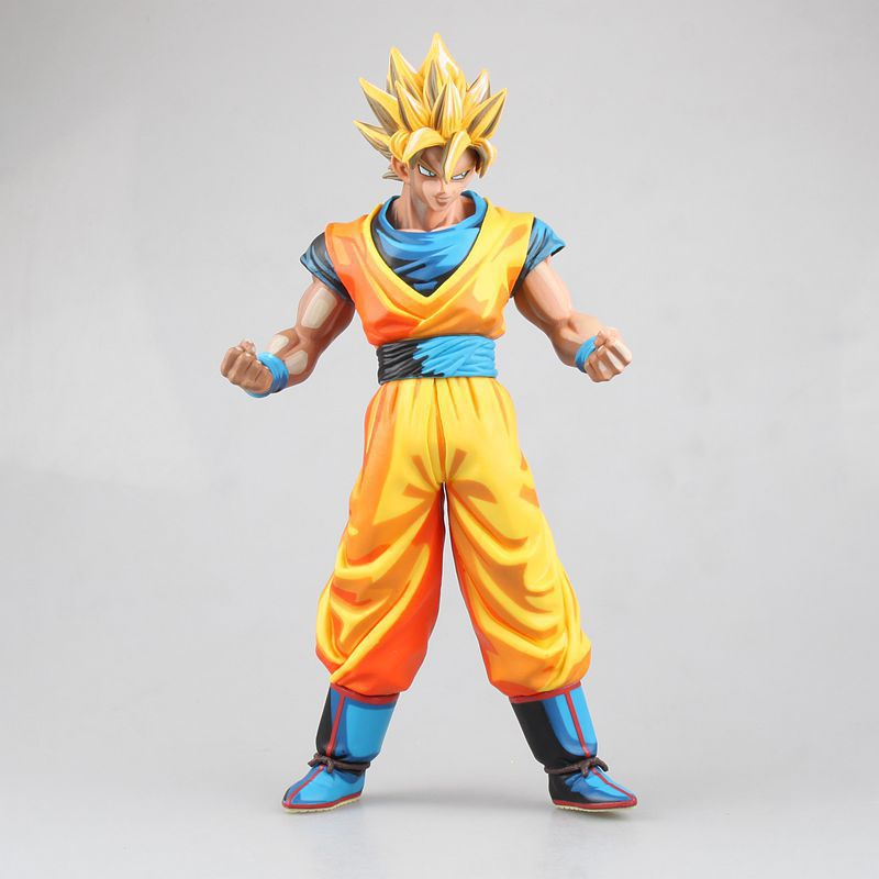 NEW hot 27cm cartoon Dragon ball Kakarotto Son Goku Super Saiyan action figure toys collection Christmas gift doll no box new hot 22cm avengers super hero hulk movable action figure toys christmas gift doll with box
