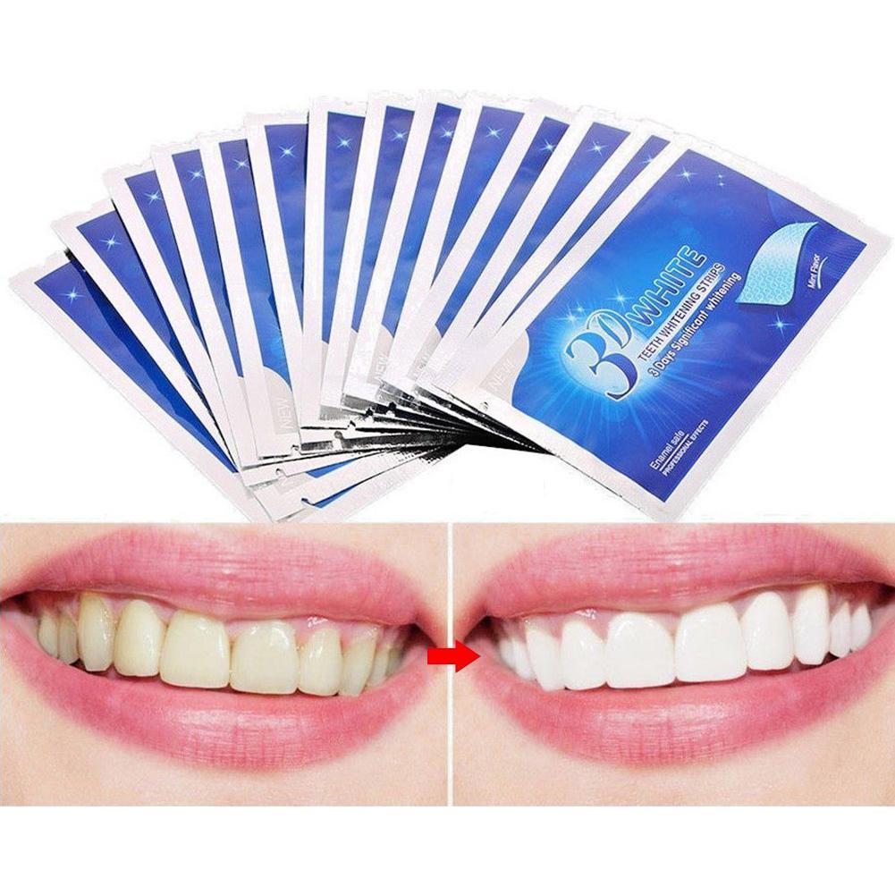 14 Pcs/pack 3D Teeth Whitening Strips Tooth Dental Kit Oral Hygiene Care Strip For False Teeth Veneers Dentist Seks Cleansing
