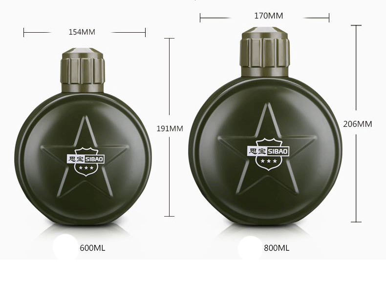 army style 18 8 Stainless Steel Double Wall Thermos Flask Light Vacuum Insulated Bottle Army Canteen Sports Drink Jug in Vacuum Flasks Thermoses from Home Garden
