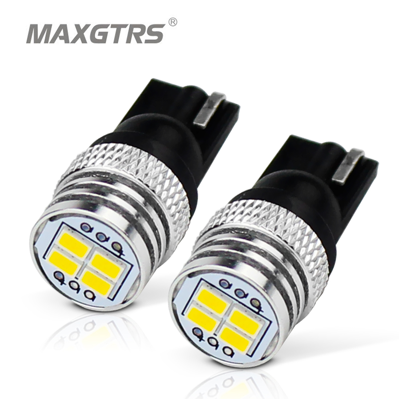 5x W5W <font><b>T10</b></font> LED Bulb <font><b>4</b></font> LEDs 3020 <font><b>SMD</b></font> EMC CAN-BUS Car Interior Signal Light 12V White Super Bright Door Light Luggage Lamp image