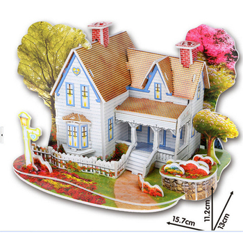 3D DIY Puzzle Jigsaw Baby toy Kid Early learning Castle Construction pattern gift For Children Brinquedo Educativo Houses Puzzle 10