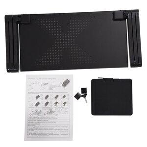 Image 4 - Plateau de support de Table dordinateur de bureau dordinateur Portable réglable pliable portatif pour le canapé lit noir