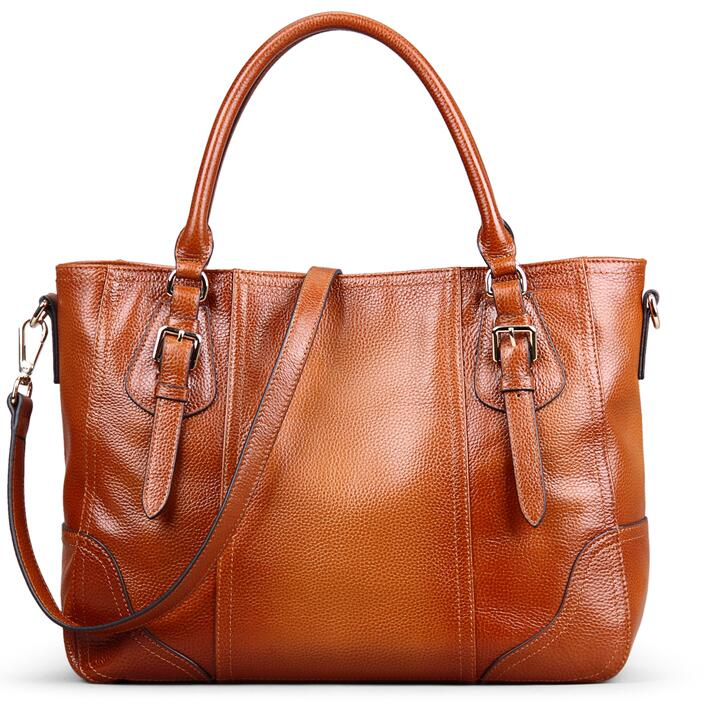 2017 Cuir Capacité Mode Wmb0207 Sac Véritable Femmes D'épaule Souple En Hadbag De Grande SwSgqxrR