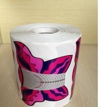 XXL Большой Размер 500 шт. в 1 Roll Бабочка-формы, Самоклеящиеся Гель Наращивание Ногтей Ногтей Формы для Акриловые ногтей Советы-Фиолетовый