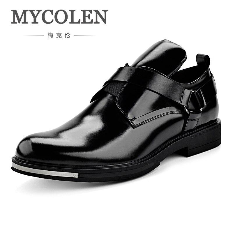 Mycolen Новая мода весна Обувь в деловом стиле костюм мужской Молодых британских Для мужчин свадебные жених обувь с заостренным носком heren schoenen