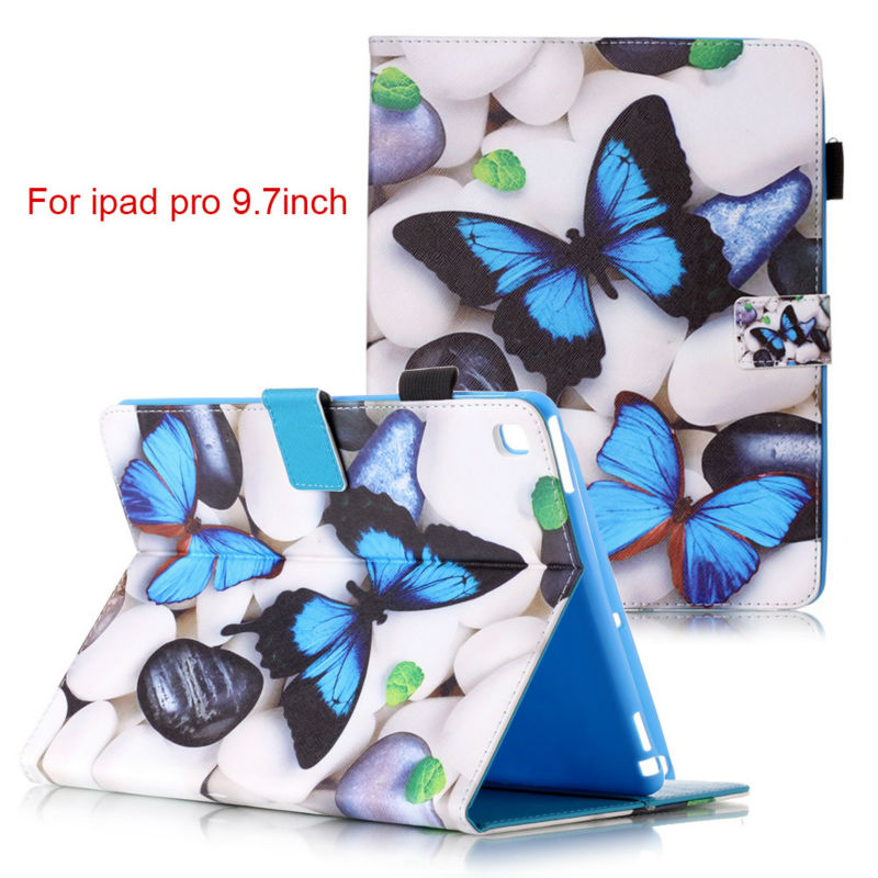 Fashion Magnetic stand pu leather cover case For Apple iPad Pro air3 9.7 inch funda Tablet cases + Screen Protector+ stylus pen