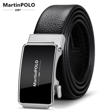 MartinPOLO Fashion Man Genuine Leather Automatic Buckle Belt First layer cowhide Belts for Men 3.5cm Width MP02001P
