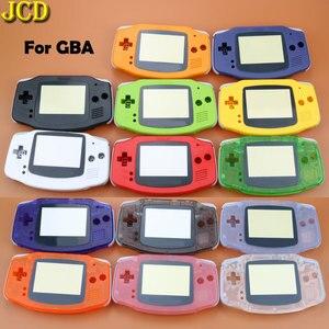 Image 2 - JCD 1 pcs ฝาครอบพลาสติกสำหรับคอนโซล GBA Shell Case + เลนส์หน้าจอ Protector + Stick ป้าย gameboy Advance