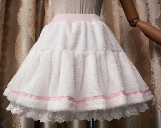 fd978129135 Princess sweet lolita skirt Soft sweet warm half skirt of younger render  skirts ZJY024