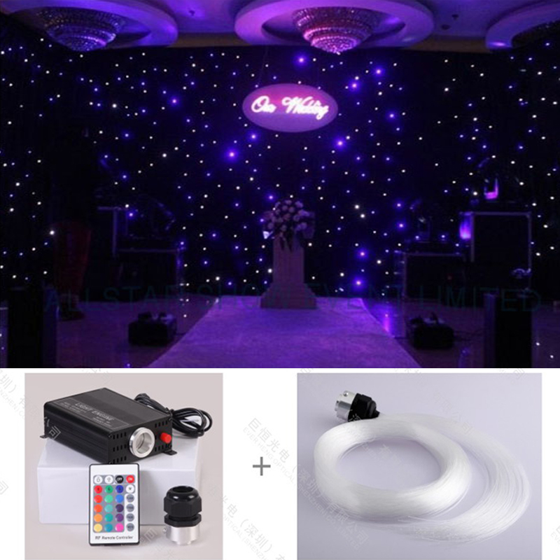 Free shipping diy colorful change optic fiber Starry star light for ceiling decoration Alice Hansen