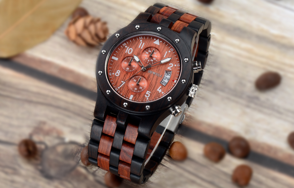 BEWELL Stylish Sandalwood Quartz Wrist Wood Watch For Men 14
