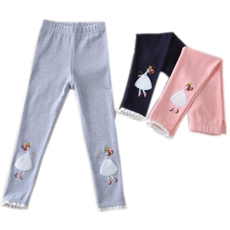 Niños Niñas encaje princesa algodón causal flaco leggings niños moda Primavera Verano otoño 3 leggings color 4- 11 t