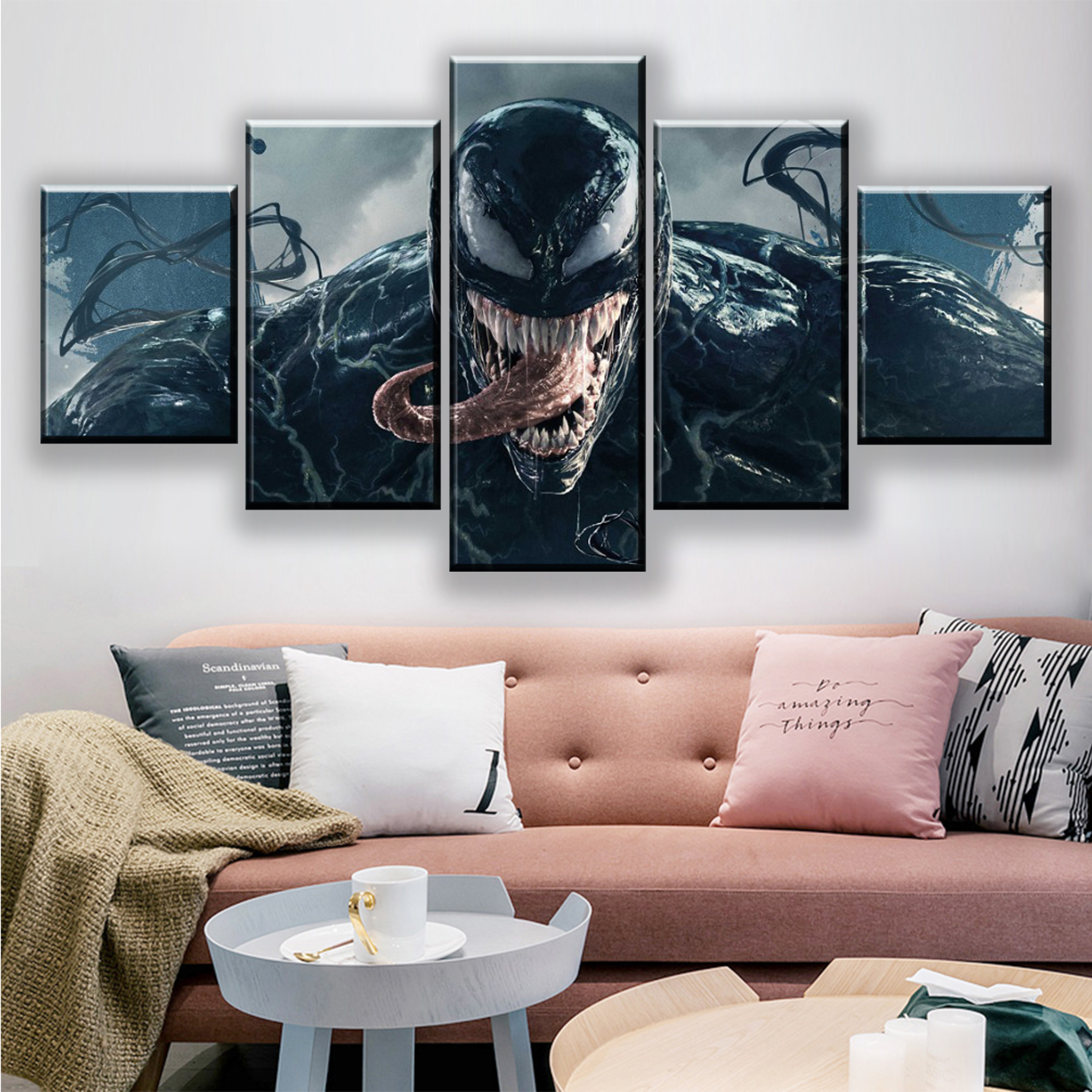 Marvel Character Watercolor Art HD Print on Canvas Home Decor Wall Art Unframed