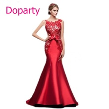 XS3 Real Photo Mother Bride Dubai Long Red Lace Elegent Gown Formal font b Mermaid b