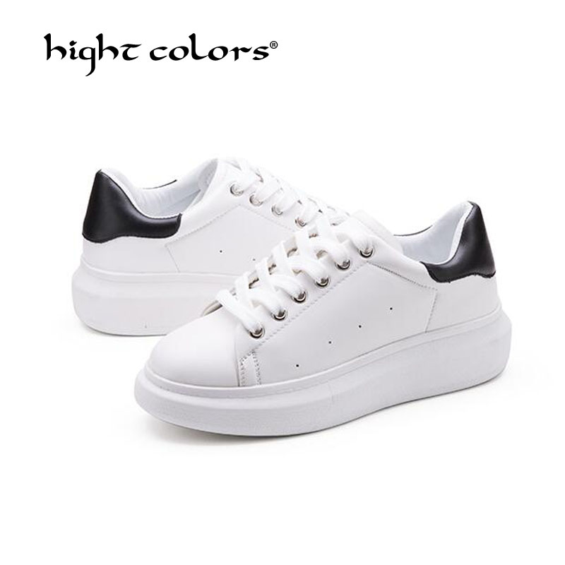 New 2019 Spring autumn Breathable Comfortable Shoes Women Flats Soft Leather Fashion Women's Casual Brand White Black Shoes D306