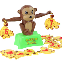 Creative Monkey Balance Toy Math Match Game Addition and Subtraction Children Learning Educational Toys(China)