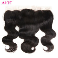 ALot Hair Lace Frontal Closure Body Wave 13x4 Ear To Ear Non Remy Human Hair Closure