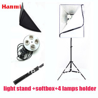 Free Shipping New Photo Studio Accessories Kit 2m Light Stand Softbox Lamp Holder For 4 Lamps