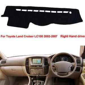 Image 3 - Auto Dashboard Abdeckung Für Toyota Land Cruiser LC100 2002 2003 2004 2005 2006 2007 DashBoard Dash matte Pad Teppich Abdeckung sonne Schatten