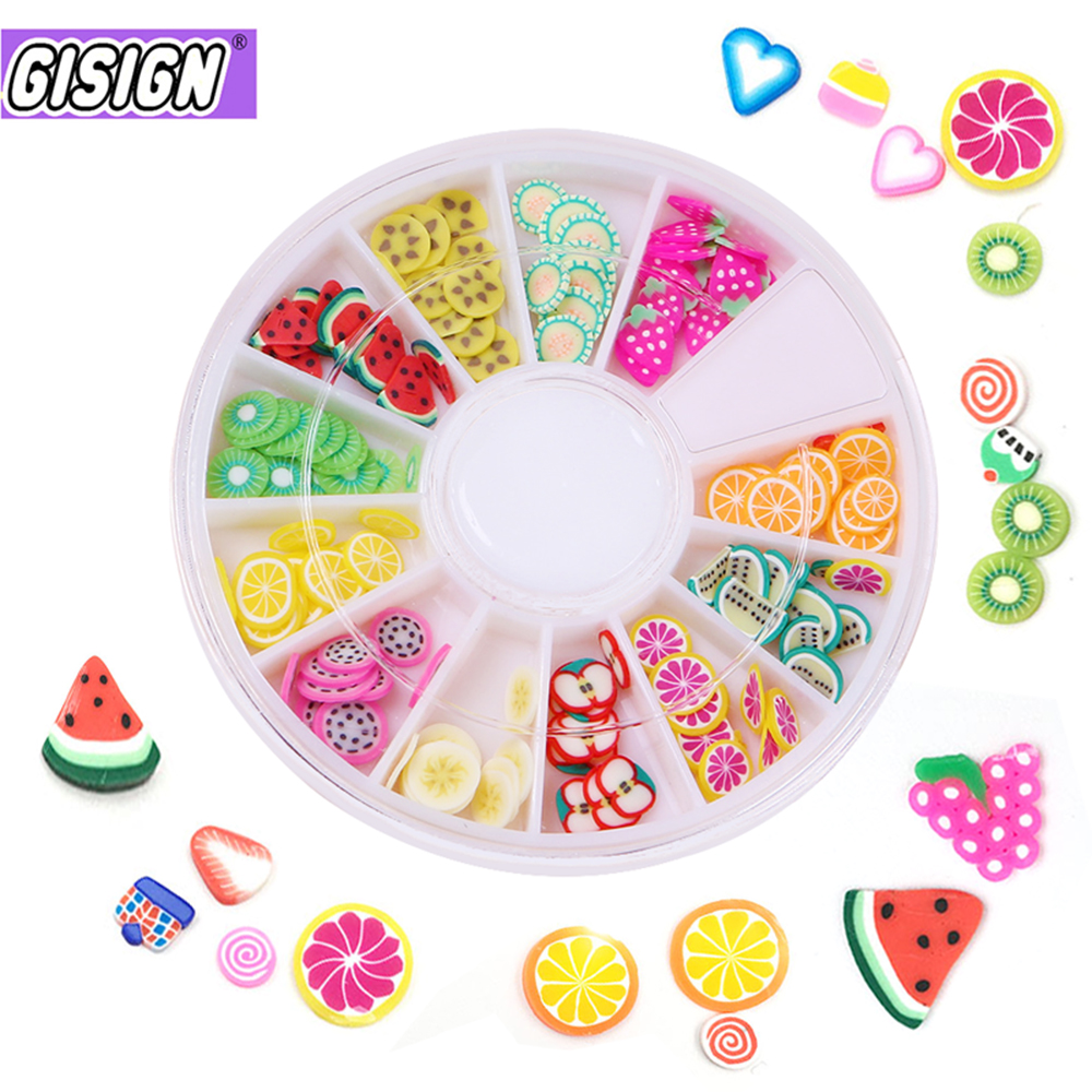 12 Style Fimo Slices For Slime Slide Crystal Clear Slime Supplies DIY Fruit Box Accessories Decoration Toys For Kids Nails Art