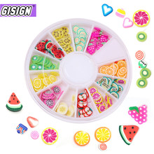 12 style Fimo Slices for Slime Slide Crystal Clear Slime Supplies DIY Fruit Box Accessories Decoration Toys For Kids Nails Art(China)