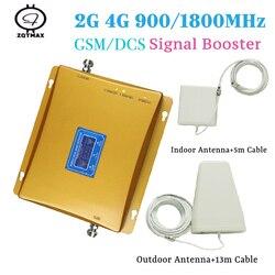 GSM 900 DCS 1800 wzmacniacz sygnału komórkowego GSM 900 4G LTE 1800 wzmacniacz telefonu komórkowego wzmacniacz sygnału do telefonu Repetidor zestawy dla domu