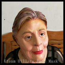 2016 Top Grade Famous Celebrity Presidential Mask Realistic Celebrity Hillary Clinton latex mask for campaign Women Mask Toys