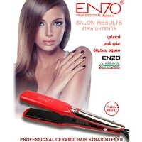 ENZO Ceramic Hair Straightener 1.5 Inch LCD Display Professional Hair Styling Straightener Iron Salon Styling Tools