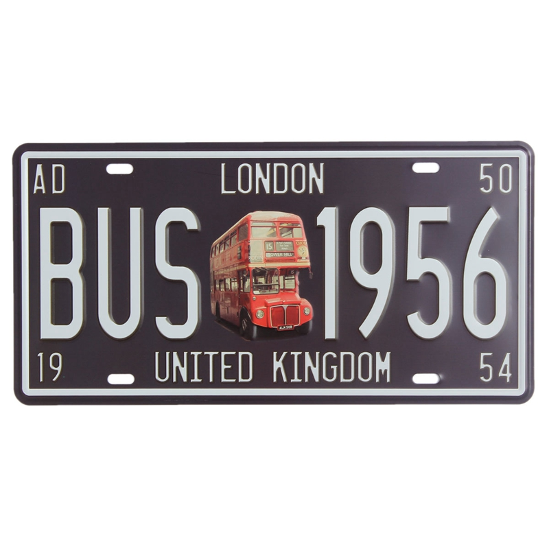 Old Car Bus Metal Poster Plate Vintage Retro Art Tin Sign Home Wall ...